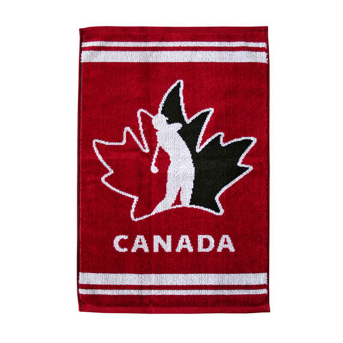 Team Canada Woven Velour Golf Towel