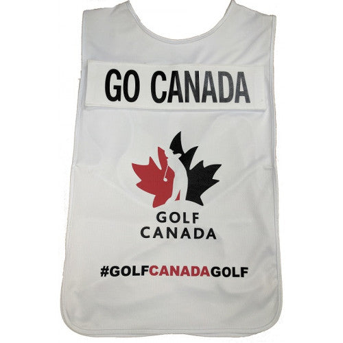 CLEARANCE - Golf Canada Caddie Bib - FREE PERSONALIZATION