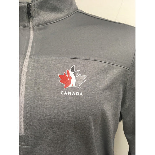 Official Team Canada Adidas Men's ¼ Zip- Grey