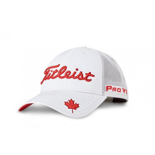 Limited Edition Canadian Collection Tour Performance Mesh Hat- White