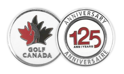 CLEARANCE - Golf Canada 125th Anniversary Coin with Removable Ball Marker