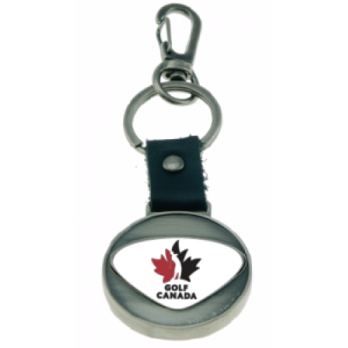 Golf Canada Metal Coin Key Ring - FREE PERSONALIZATION