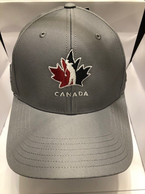 Official Team Canada Adidas Player Hat- Grey