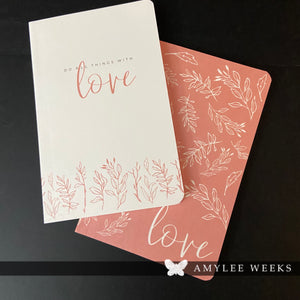 Notepad Set - All Things With Love