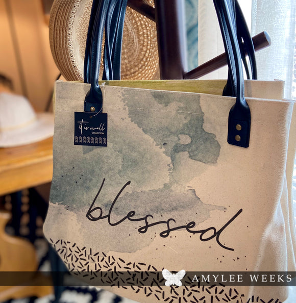 Canvas Tote - Blessed