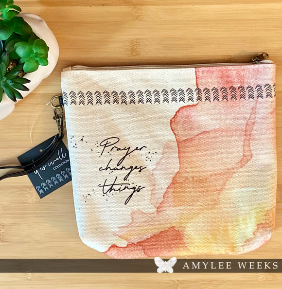 Canvas Pouch - Prayer Changes Things