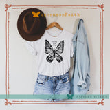 Roots and Wings butterfly tee