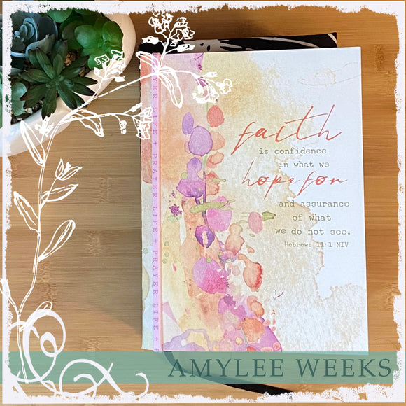 Bible Companion Journal - Faith (Hebrews 11:1) - artwork by Amylee Weeks