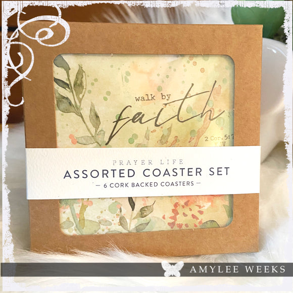 Set of Boxed Coasters - Faith