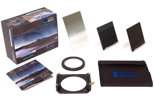 The Formatt Hitech Colby Brown Signature Edition Landscape Filter Kit including three filters and filter holder system