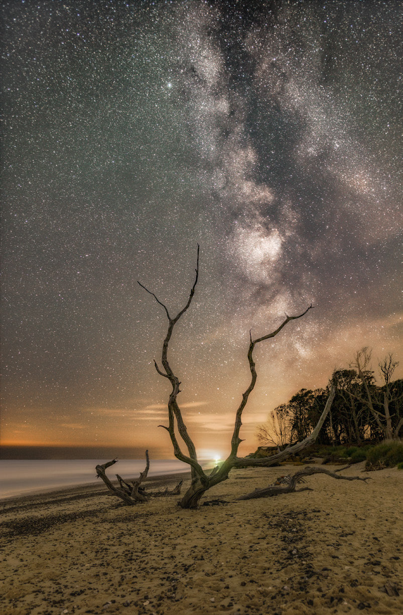Covehithe beach under the Milky Way