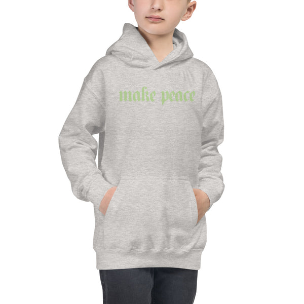 PEACEMAKER Kids' Hoodie - Green Text
