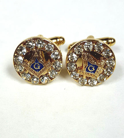 Masonic Crystal Cuff links