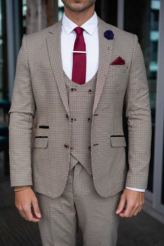 Houndstooth Tan Suit