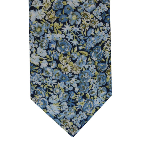 Floral Tie and Hankie Set