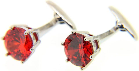 Red Crystal Cuff link
