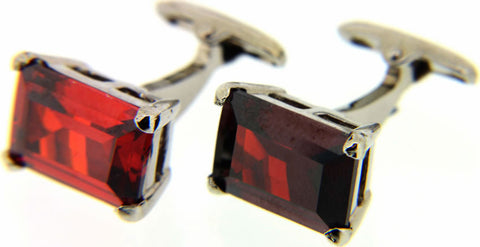 Red Rectangular Cufflinks