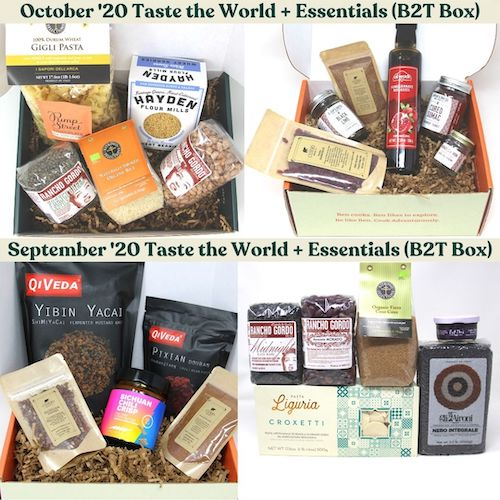 October and November Taste the World Essentials for Gourmet Pantry