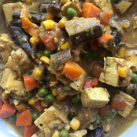 Eggplant tofu coconut curry