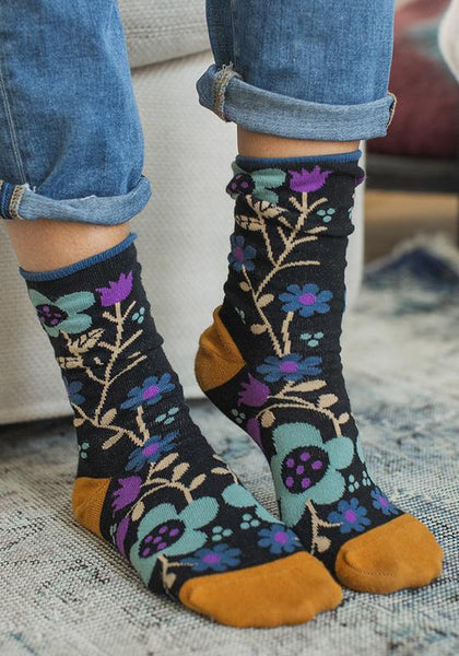 Black Boho Sock Set