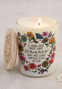 Let shit go soy candle