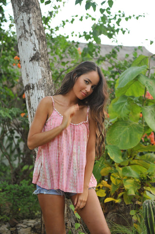 Sunset Moonstone Coral Top