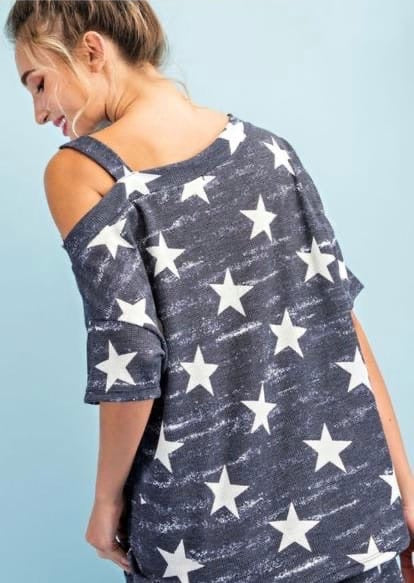Navy Lounge Stars Top