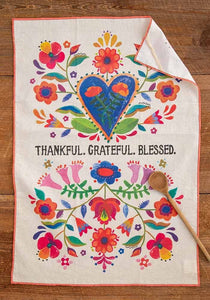 Thankful Grateful Cotton Dish Towel