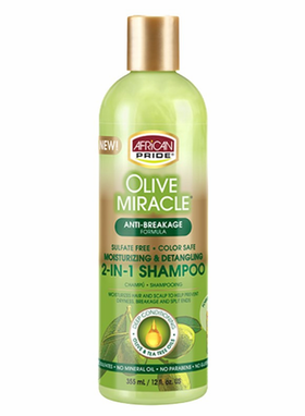 Shampoing et conditionner 2 en 1 355ml Olive Miracle African Pride