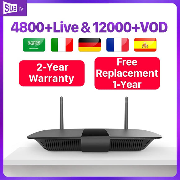 Leadcool Arabic France Subscription IP TV Q1504 Android 8.1 Tv Box 4k Portugal Turkey France SUBTV Code