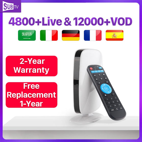 Arabic France Subscription  Android 8.1 Box Tv R9 4k Full HD Live 1 Year Belgium Portugal Turkey Code