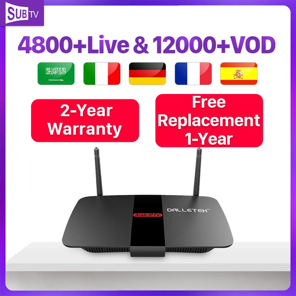 Arabic France Subscription IP TV R1 Android 8.1 Tv Box 4k Full HD Live SUBTV 1 year Belgium Portugal Turkey Code