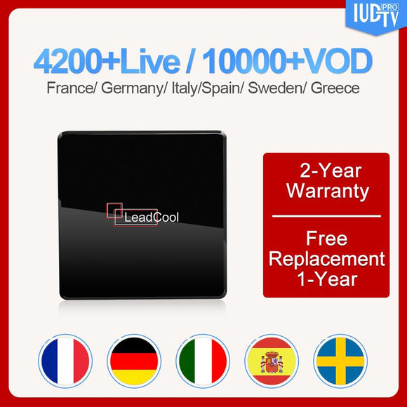 Sweden Germany Uk Italy Android 7.1 Leadcool X S905w 1G/8G Iudtv Subscription Greek Nordic Spain Germany Italy