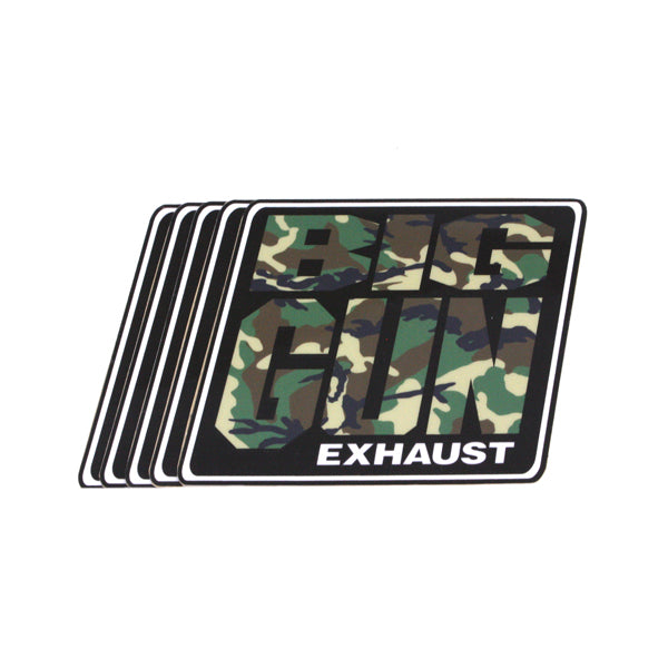 Gear - Camo Big Gun Exhaust Logo Decal - 5 Pack (4.25