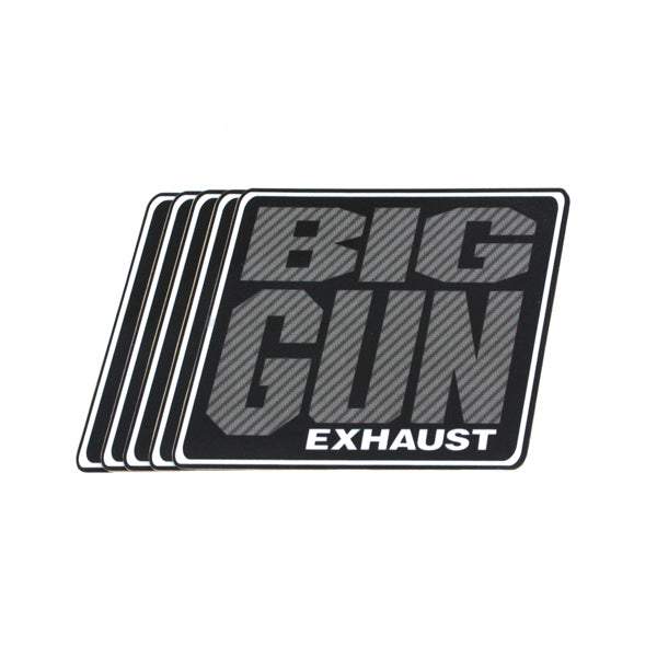 Gear - Carbon Look Big Gun Exhaust Logo Decal - 5 Pack (4.25