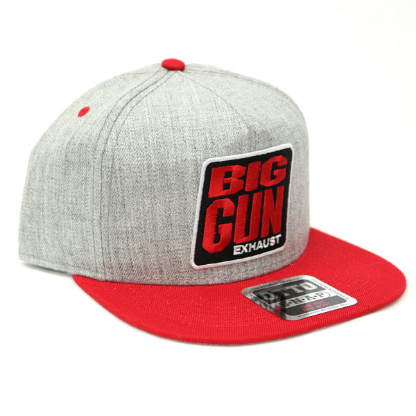 Gear - Heather Grey / Red Snapback Logo Hat