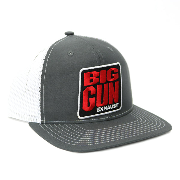 Gear - Grey / White Stitched Bill Snapback Logo Hat