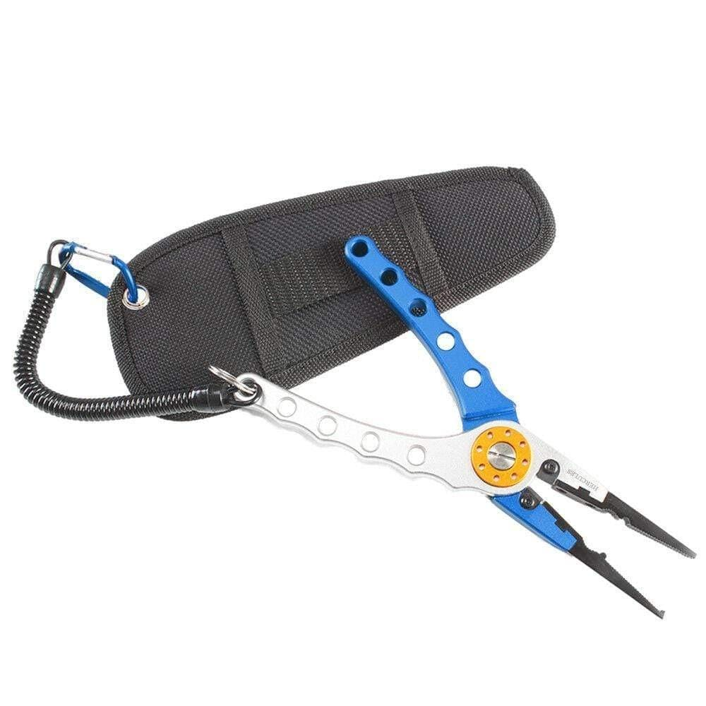 Fishing Pliers H2 Aluminum 7.8in Fish Tackle with Nylon Sheath & Secure Lanyard