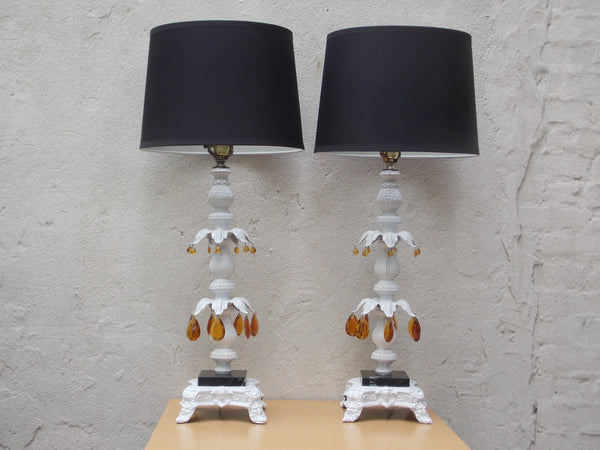 RE-INVENTING A PAIR OF HOLLYWOOD REGENCY TABLE LAMPS
