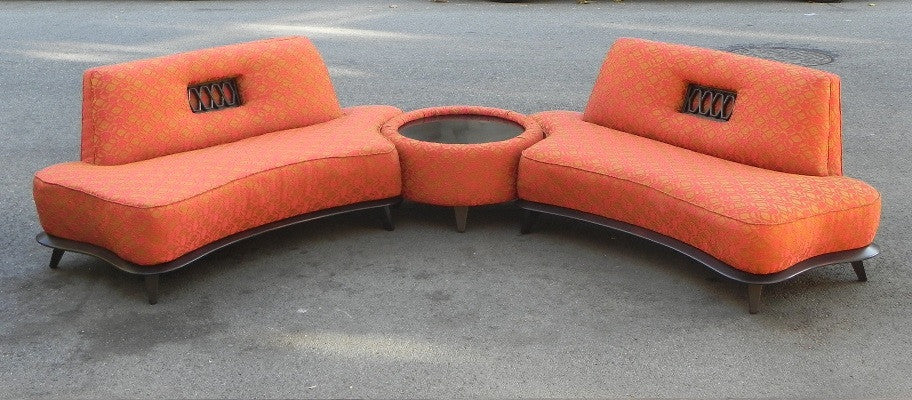 A COMPLETE RESTORATION OF AN AMAZING MID CENTURY SOFA SET