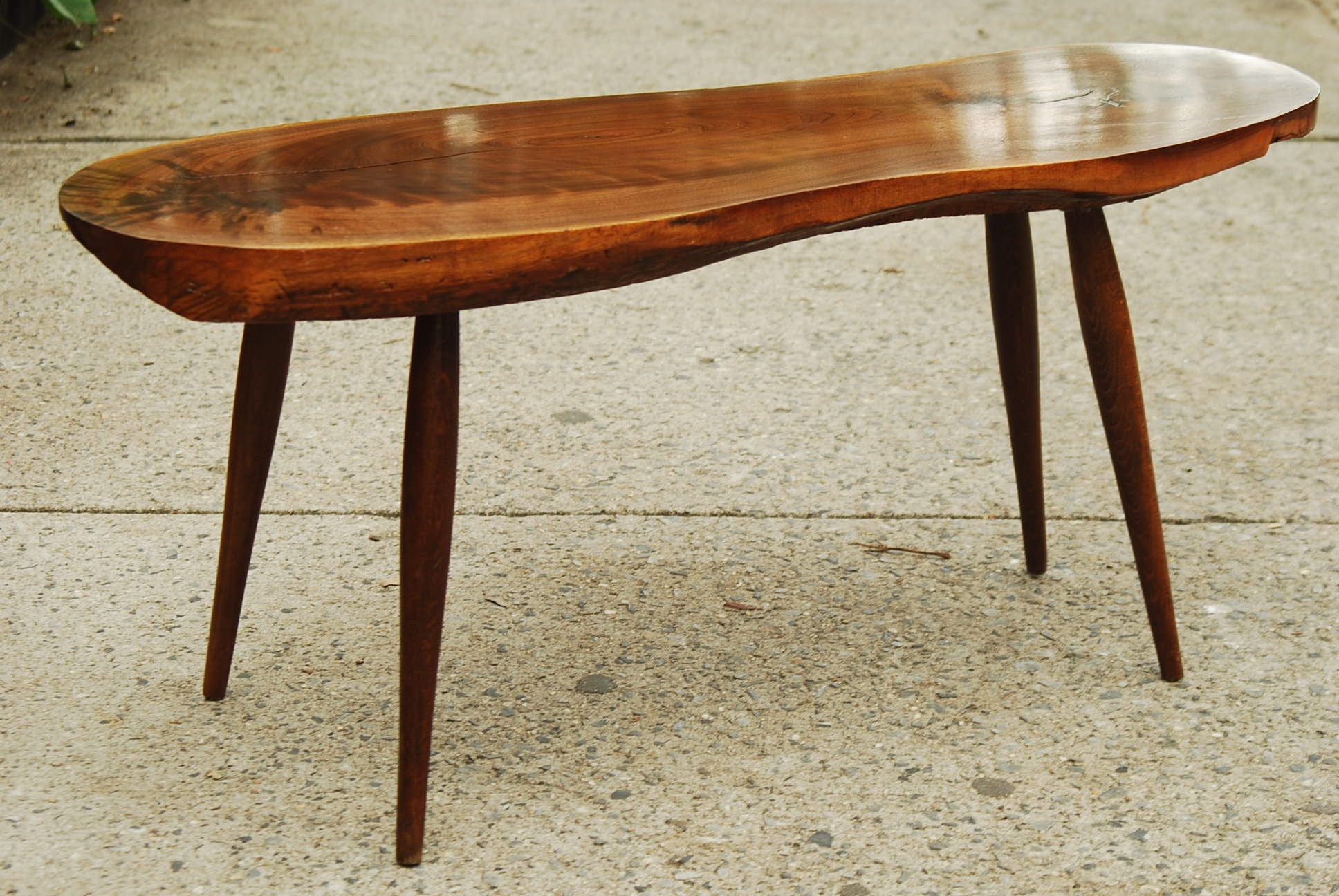 sold compact amorphic tree slab coffee table i like mikes mid