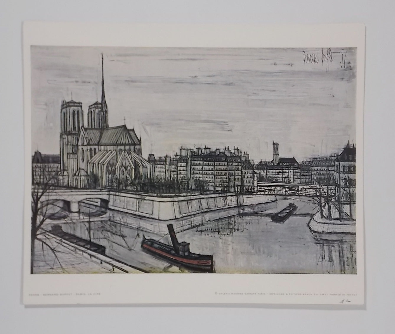 Tremendous Paris La Cite By Bernard Buffet 1956 Original Color Lithograph Print Unframed Download Free Architecture Designs Lectubocepmadebymaigaardcom