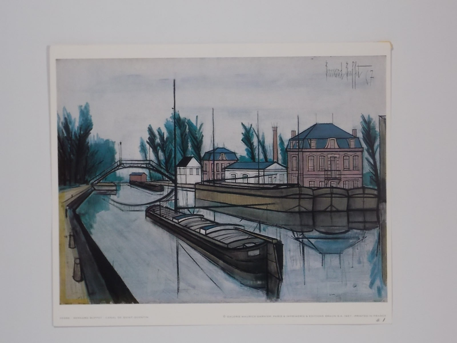 Cool Original Print Canal De San Quentin By Bernard Buffet 1967 Unframed Download Free Architecture Designs Lectubocepmadebymaigaardcom