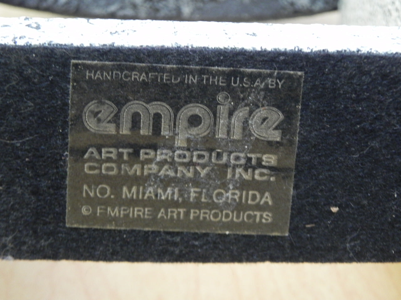 Empire Art Products Grey Faux Granite Mantle Clock, 1980s