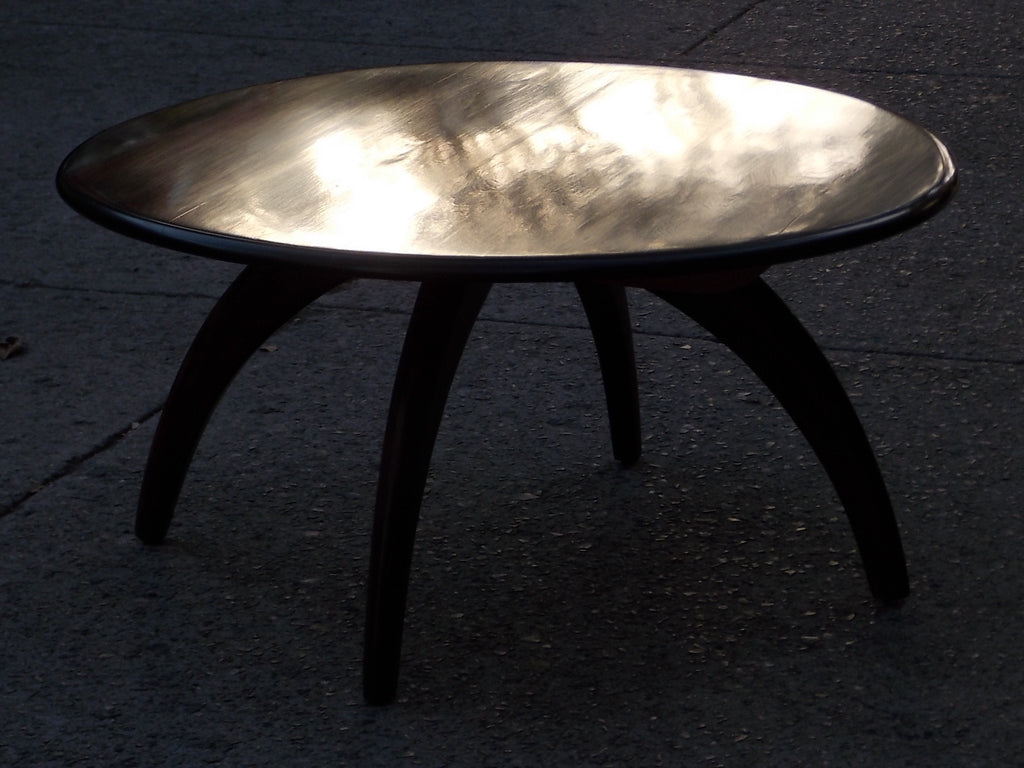 Sold Heywood Wakefield Lazy Susan Dark Wood Round Table I Like Mikes Mid Century Modern