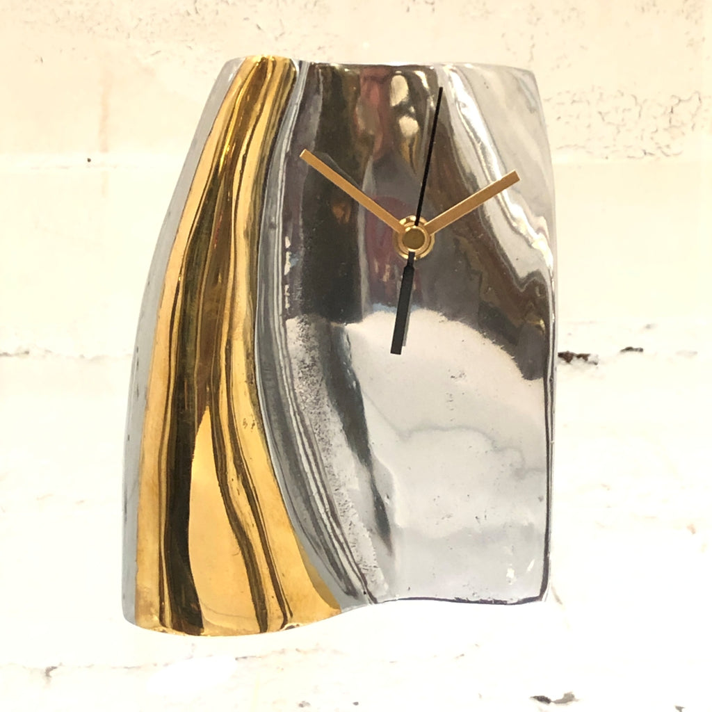 Artisan Mixed Metals Modern Mantel Clock Hand Made One Of A Kind I Like Mikes Mid Century Modern