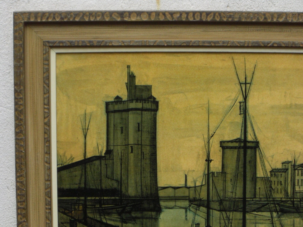Swell Bernard Buffet Large Framed Citiscape Print Home Interior And Landscaping Ologienasavecom