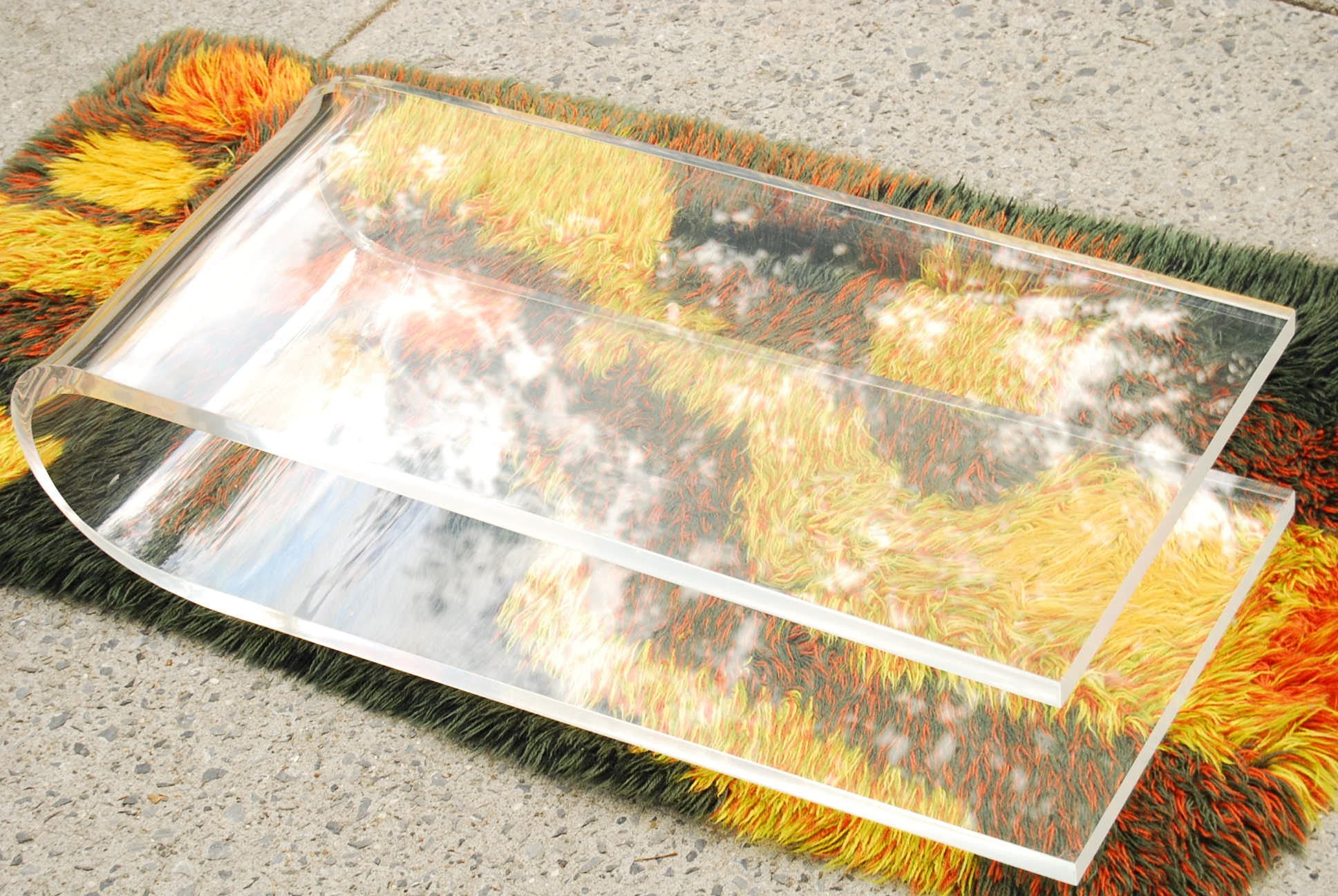 SOLD VINTAGE LUCITE FLOATING COFFEE TABLE I Like Mikes Mid