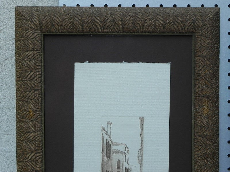 pair signed prints of venice tall thin museum quality framing - Museum Quality Framing