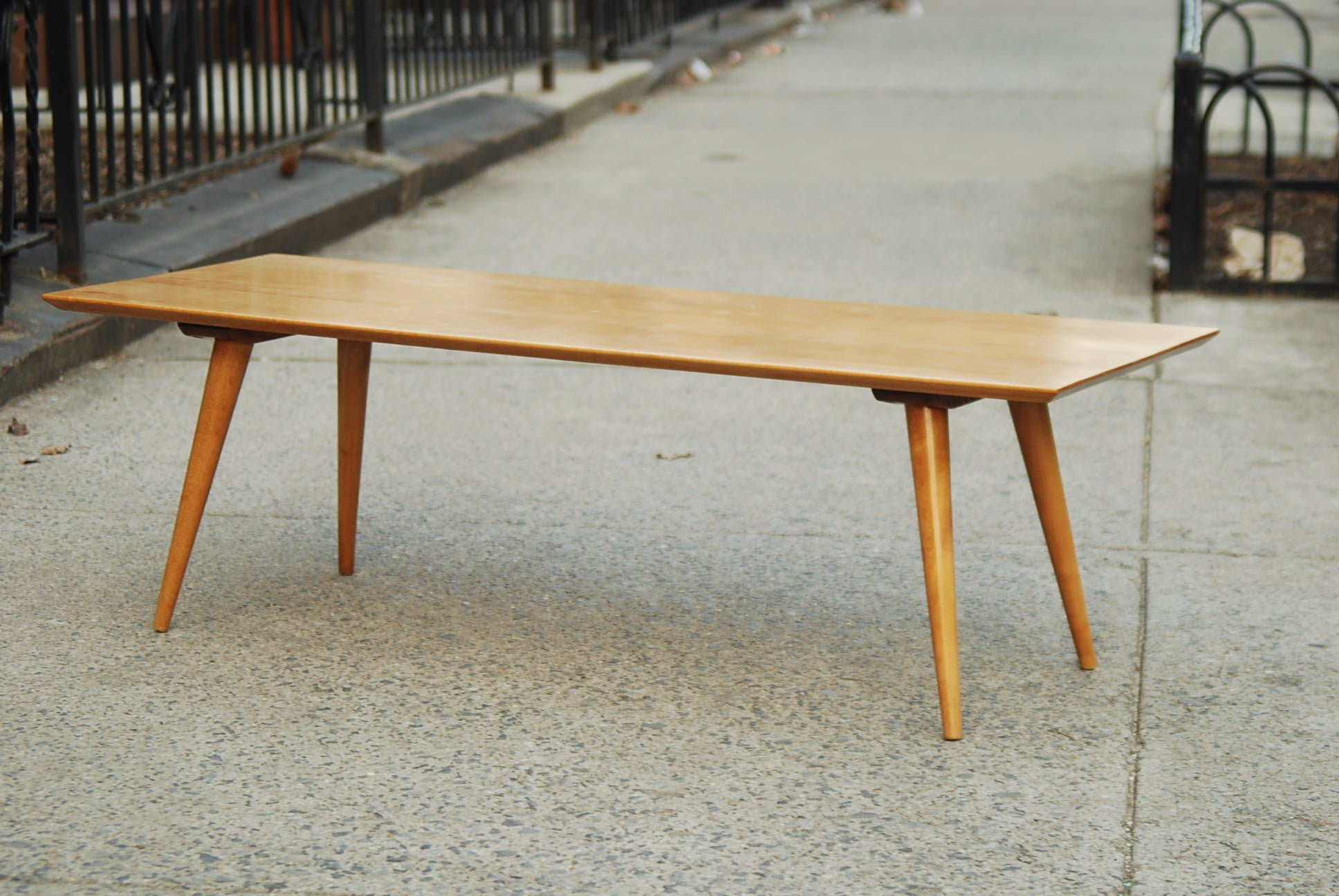 SOLD PAUL MCCOBB RESTORED BLOND COFFEE TABLE I Like Mikes Mid